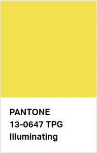 pantone 2021 sárga